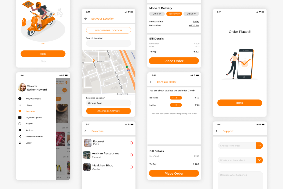 UI for food delivery app